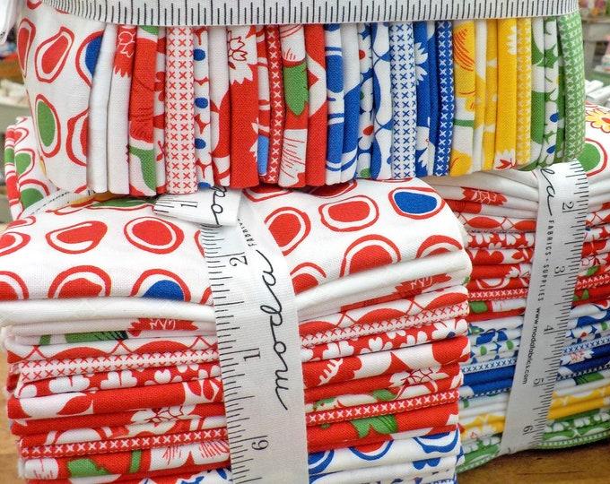 Red Rover Fat Quarter bundle by Linzee Kull McCray Moda Fabrics