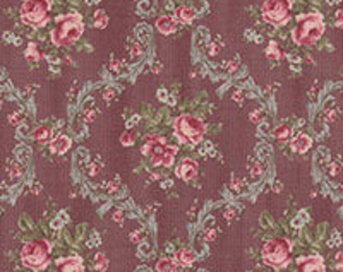 Antique Rose  31299-20s purple scroll floral...Lecien