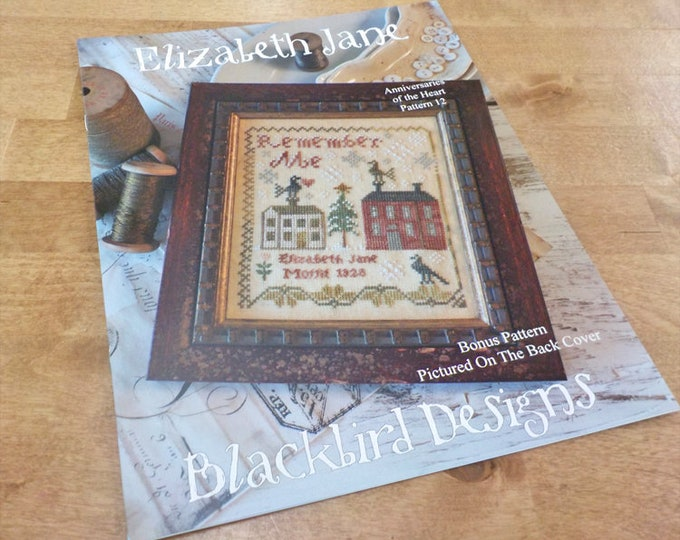 Elizabeth Jane, Anniversaries of the Heart Pattern 12, by Blackbird Designs...cross-stitch design