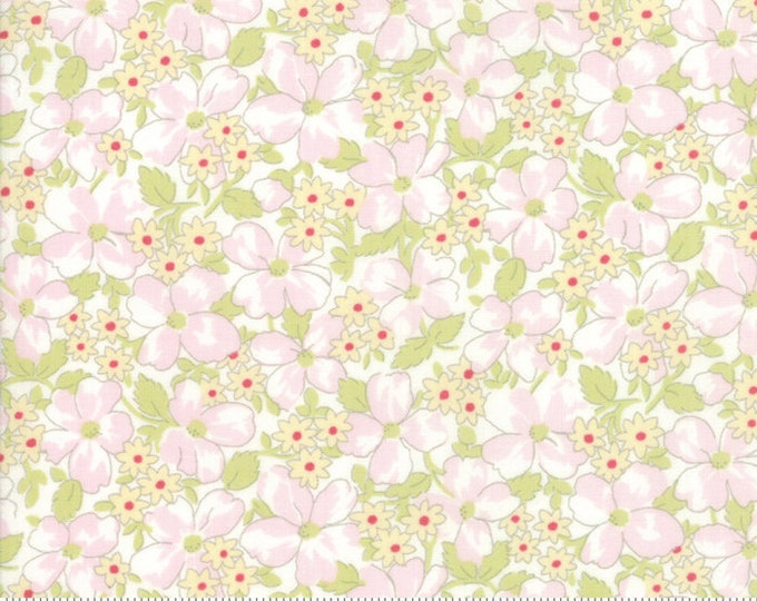 Amberley 18673 11 linen white by Brenda Riddle Designs for Moda Fabrics
