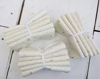 Dover Linen White 5 fat quarter bundle...designed by Brenda Riddle for Moda Fabrics
