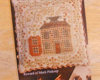 Patchwork Pumpkin, Reward of Merit Pinkeep, by Blackbird Designs...cross-stitch design