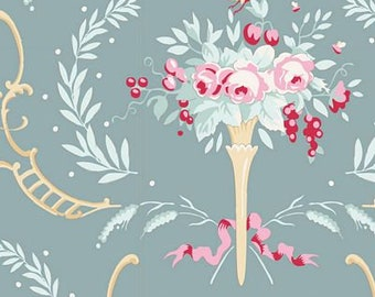 Old Rose Birdsong Teal Green TIL100208-V11...a Tilda Collection designed by Tone Finnanger