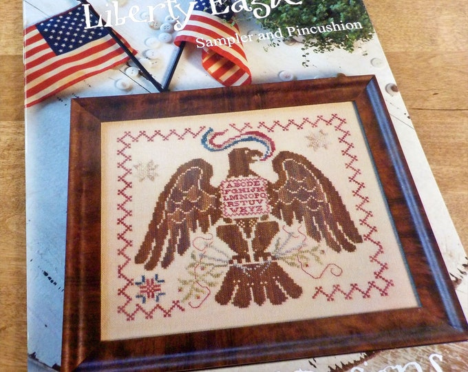 Liberty Eagle by Blackbird Designs...cross stitch pattern, cross stitch