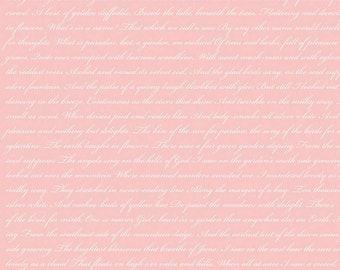 Rose & Violet's Garden Text Shell C10416 designed by Miss Rose Sister Violet for Riley Blake Designs