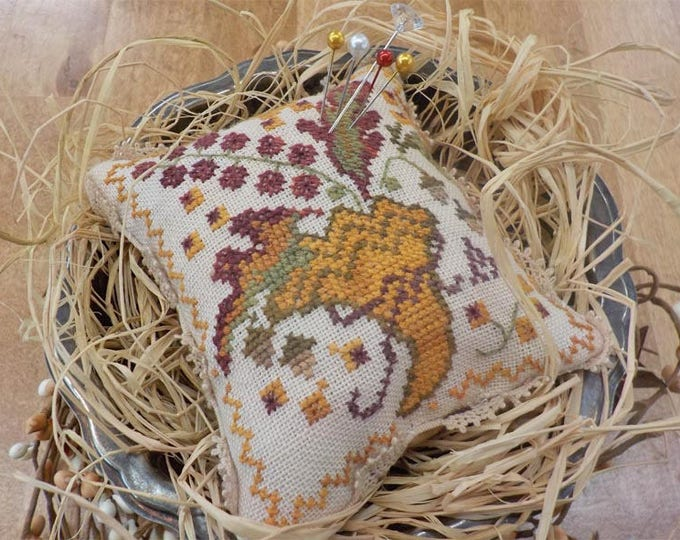 Give Thanks, second in the sewing box series, by Blackbird Designs...cross stitch kit, thanksgiving cross stitch