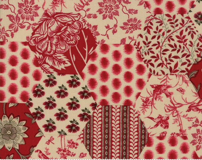 La Vie En Rouge Rouge 13820 16 by French General for Moda Fabrics