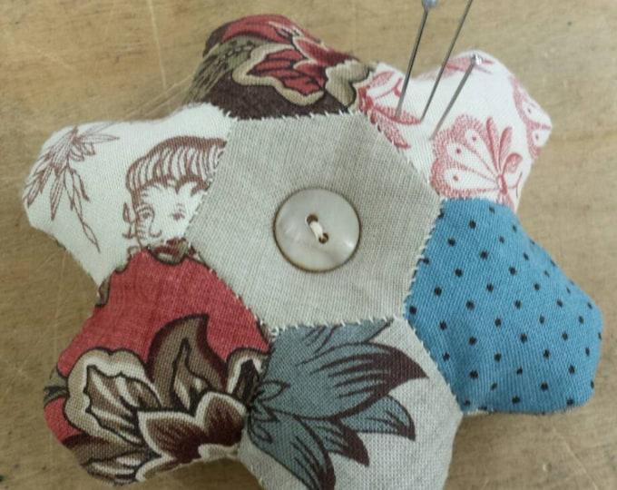 Panier des Fleurs mini pincushion kit...pattern designed by French General