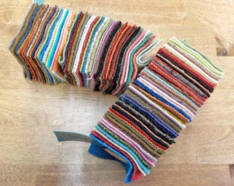 In the Patch...wool Smidgens...50--2 1/2 inch wool squares...blended pack
