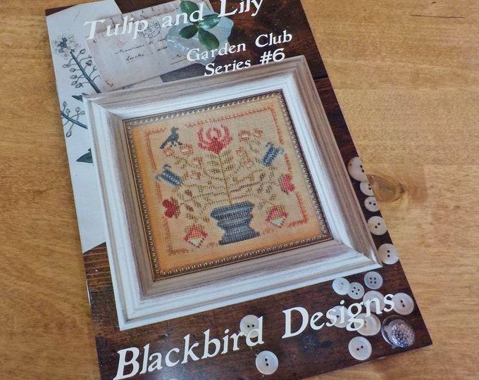 Tulip and Lily, Garden Club Series #6, by Blackbird Designs...cross-stitch design
