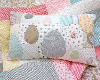 Cottage Eggs pillow kit...Easter pillow, cottage style pillow, DIY kit