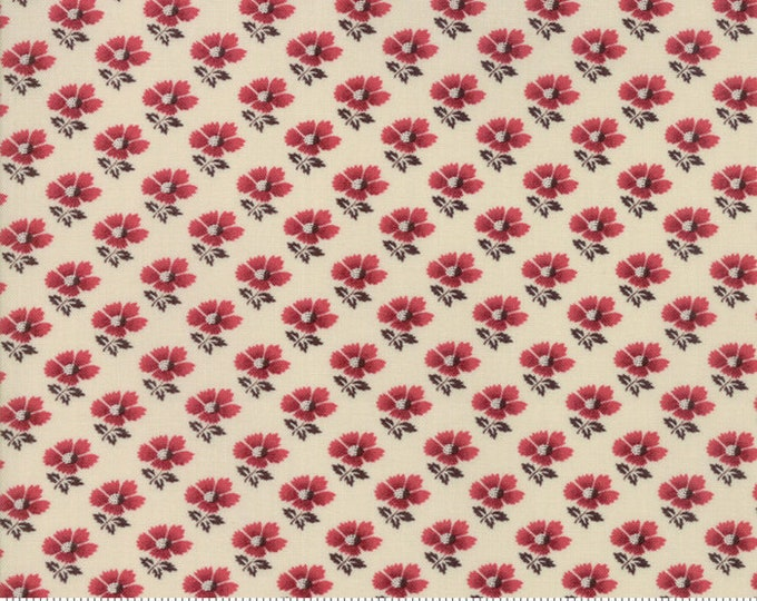 La Vie En Rouge Pearl Garance 13825 12 by French General for Moda Fabrics