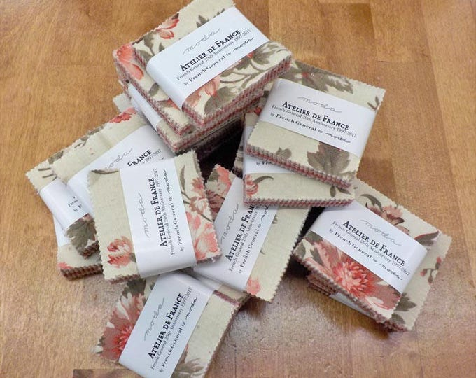 Atelier De France mini charm pack by French General for moda fabrics