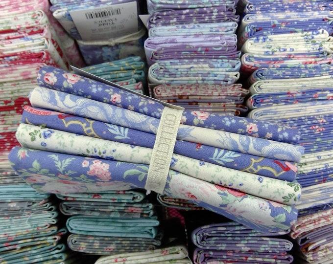 Old Rose blue...5 fat quarters...a Tilda Collection designed by Tone Finnanger