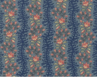 Sarah's Story 1830-1850, Indigo 31592 17 fabric designed by Betsy Chutchian for Moda Fabrics
