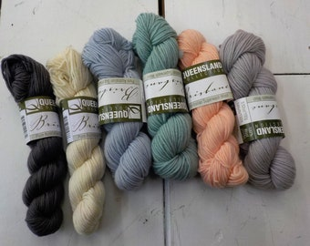 Oceanside Color Collection...Brisbane Yarn...Queensland Collection...pure Australian superwash wool...100% wool