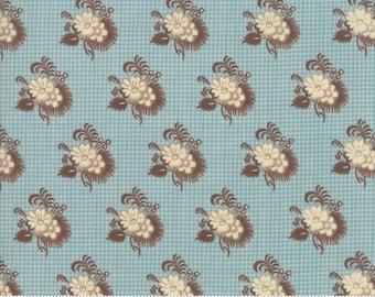 Sarah's Story 1830-1850, Sky 31593 16 fabric designed by Betsy Chutchian for Moda Fabrics