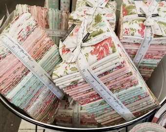 Rue 1800 fat quarter bundle by 3 Sisters for Moda Fabrics...factory cut bundle, fat quarter tower, 40 fat quarters