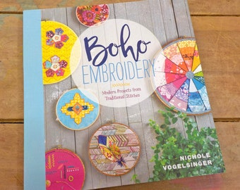 Boho Embroidery by Nichole Vogelsinger...modern meets traditional embroidery