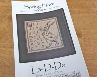 Spring Hare by La-D-Da...cross stitch pattern