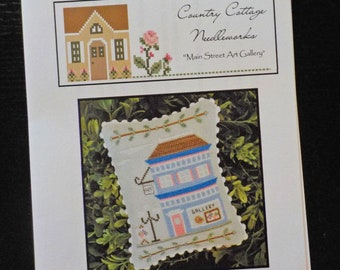 Main Street, Main Street Art Gallery, designed by Country Cottage Needleworks, Main Street Collection, Cross Stitch collection