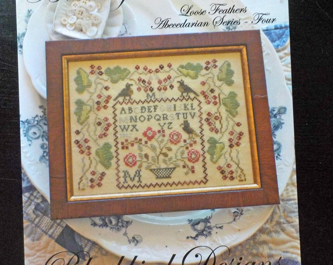 Bountiful Harvest, Loose Feathers Abecedarian series pattern 4 by Blackbird Designs...cross-stitch design
