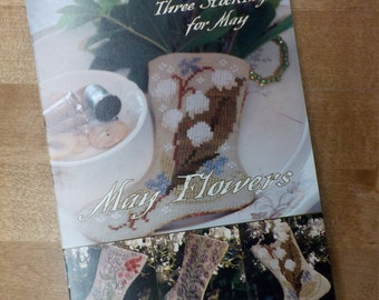 May Flowers, 3 Stockings for May, by Blackbird Designs...cross-stitch design