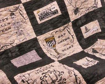 Halloween in the Country quilt kit...halloween diy, halloween kit, quilt kit, designed and stitched by Mickey Zimmer