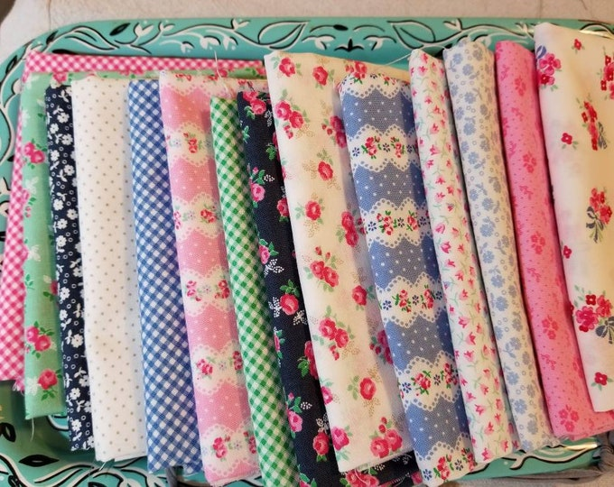 Guest House by Pretty by Hand for moda fabrics...14 fat quarter bundle...exclusive grouping