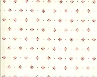 Redwork Gatherings Cream 49118 11 by Primitive Gatherings for moda fabrics