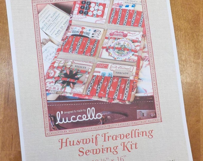 Huswif Travelling Sewing Kit Pattern designed by L'uccello for French General