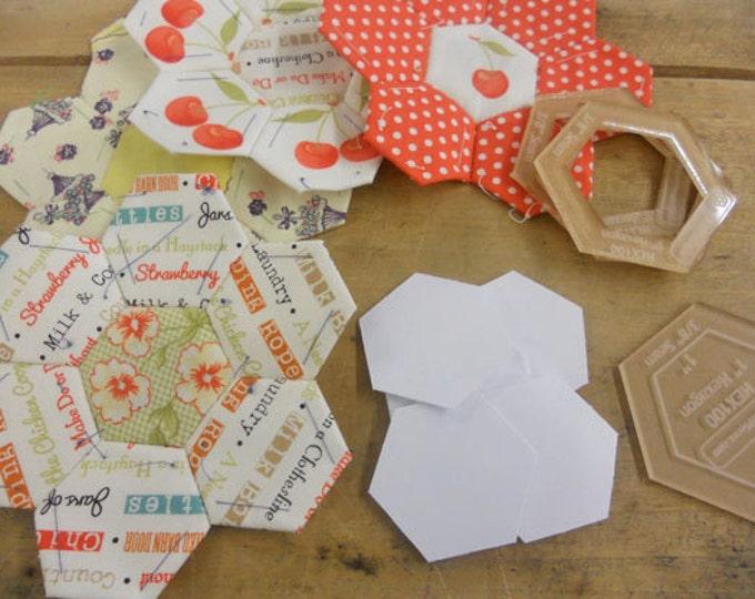 hexagons, 1 inch...100 pieces, laser cut