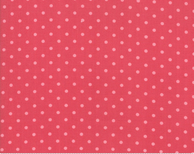 Amberley 18675 18 dark peony dot by Brenda Riddle Designs for Moda Fabrics