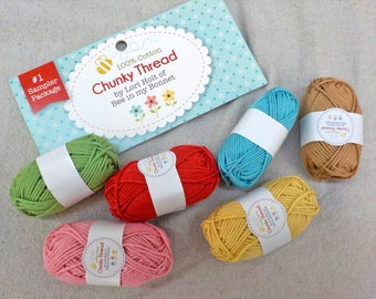 Chunky Thread by Lori Holt of Bee in my Bonnet...sampler pack #1, 6 skeins, 10 grams each