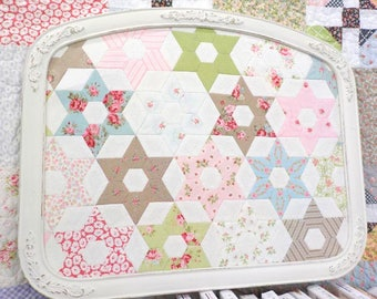PDF Sparkle, English Paper Pieced project, designed by April Zimmer for Sweetwater Cotton Shoppe