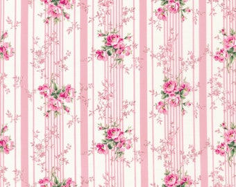 Pink Ruru Marie Floral QGRU238016B by Quilt Gate for Robert Kaufman