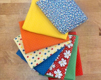 Play All Day...dots and prints...8 Fat Quarter bundle by Sandy Klopp of American Jane for Moda Fabrics...exclusive bundle