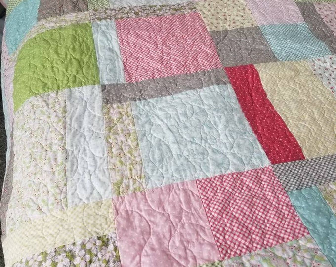 Razzberry Creek quilt kit...featuring Amberley collection...pattern designed in-house by Mickey Zimmer...DIY quilt kit