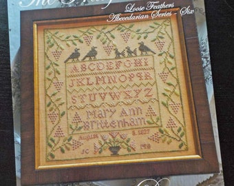 The Fruitful Vine, Loose Feathers Abecedarian series pattern 6 by Blackbird Designs...cross-stitch design