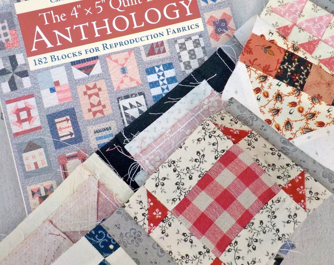 """Column One and Two block kits...The 4"""" x 5"""" Quilt-Block Anthology by Carol Hopkins and Linda M. Koenig,14 block kits"""