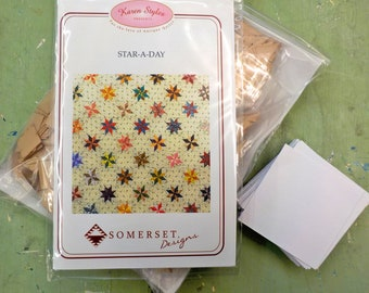 Star-A-Day by Karen Styles of Somerset Designs...pattern, acrylic templates, and complete paper piece pack