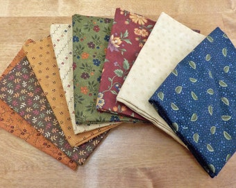 Nature's Glory by Kansas Troubles for moda fabrics, 8 fat quarters, fat quarter bundle, exclusive bundle