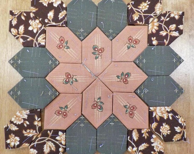 Lucy Boston Patchwork of the Crosses civil war block kit #30