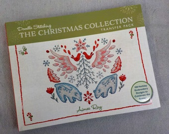 Doodle Stitching, The Christmas Collection transfer pack of 100 Holiday Designs to celebrate the season, by Aimee Ray for Stash Books