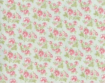 Rue 1800 44225-13 Robin's Egg floral by 3 Sisters for Moda Fabrics