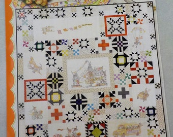 The Stitchwitch Spellbinders Quilt Show...complete set of 8 patterns and finishing by Meg Hawkey of Crabapple Hill Studio