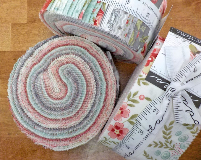 Porcelain jelly roll by 3 Sisters for Moda Fabrics...factory cut stripes, 2 1/2 inch strips