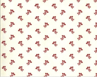 Redwork Gatherings Cream 49114 11 by Primitive Gatherings for moda fabrics