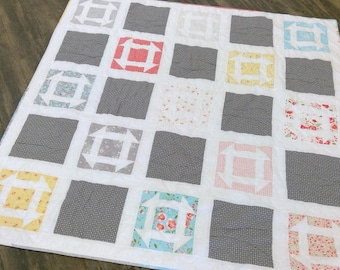 Amelia quilt kit featuring Sugarcreek by Corey Yoder...pattern designed by Mickey Zimmer for Sweetwater Cotton Shoppe