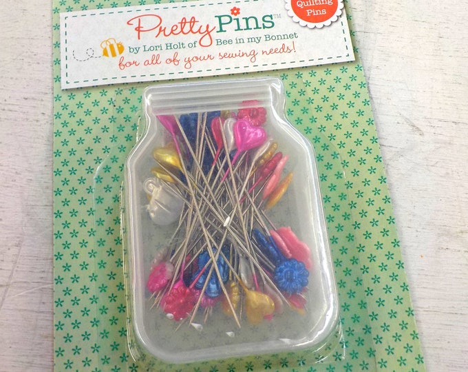 Pretty Pins by Lori Holt of Bee in my Bonnet...60 quilting pins. .7mm x 45mm